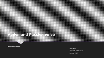 Active and Passive Voice Verbs