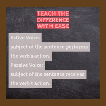 Active and Passive Voice Verbs -Card Sort Activity