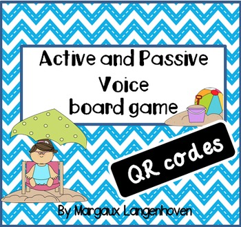 Active and Passive Voice board game QR codes