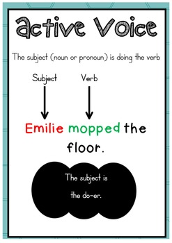 Active and passive voice worksheets for grade 6 pdf