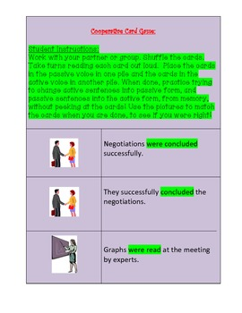 Active or Passive Voice? Cooperative Game and Assessment