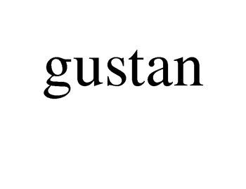 Active practice with gustar/encantar