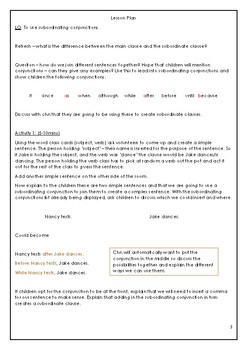 Active subordinating conjunction lesson - worksheets included!
