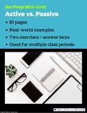 Active vs. Passive: Lesson + 2 Exercises