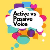 Active vs Passive Voice Hybrid Lesson Plan w/Assessments G