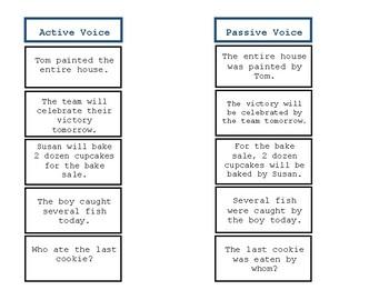Active vs Passive Voice Montessori Inspired Activity