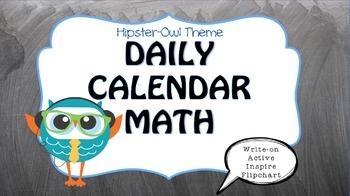Owl Themed {ActiveInspire ::Calendar Math Flip Chart::}