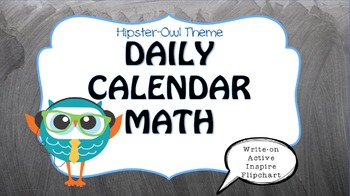 Owl Themed {ActiveInspire ::Calendar Math Flip Chart::}