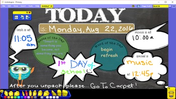 Owl Themed {ActiveInspire ::Day At A Glance::}