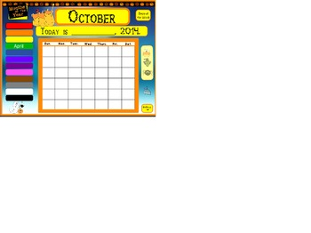 Activeboard October Calendar