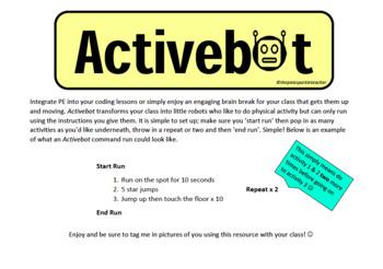 Activebot - Physical Activity Brain Break