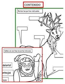 """Navidad: Actividad Navideña  Agrega letreros a """"Santa y sus amigos""""-"""