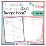 Spanish Weather Listening Activity | Freebie