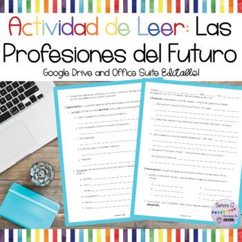 Actividad/Prueba de Leer: Profesiones del Futuro