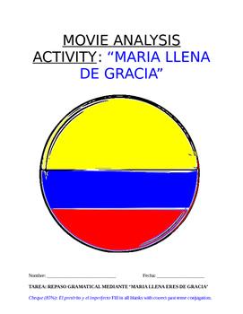 """Multi-Activity Sp3-Sp5 - """"María...gracia"""" Film: HW, Essential Questions, Debate"""
