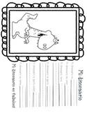 Actividad de escritura de los dinosaurios- Dinosaur writing