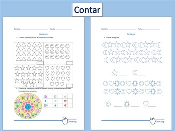 Actividad editarble para Contar. Primer Grado. Nuevo Modelo Educativo. MS Word