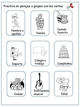 Actividad para practicar tu español oral. Practise your oral Spanish.