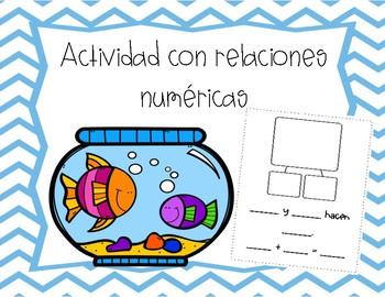 Actividad para relaciones numéricas (Number Bond craft SPANISH)