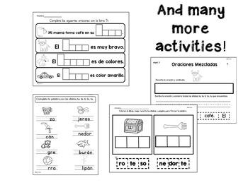 Actividades Con La Letra Tt - Spanish Activities Letter Tt