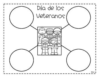 Actividades Dia de los Veteranos - Veterans Day Activities