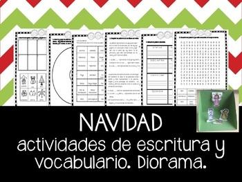 Navidad: actividades de escritura y vocabulario en Español
