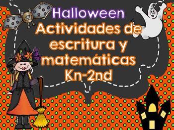 Actividades Halloween kn-2do - Halloween Activities Kn-2nd Spanish