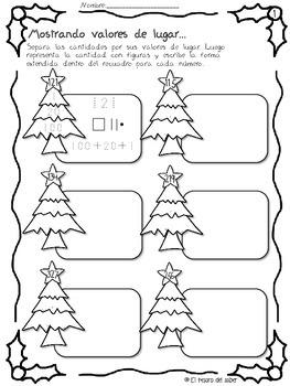 Actividades Matemáticas de invierno y navidad - Spanish Math for Christmas