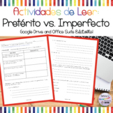 Spanish Trips to Peru with the Preterite vs Imperfect Reading Activities