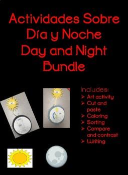 Actividades Sobre Dia y Noche Spanish Day and Night Bundle