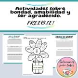 Actividades de Bondad, Amabilidad y ser agradecido | Valor