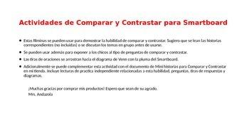 Actividades de Comparar y Contrastar Para Smartboard