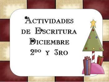 Actividades de Escritura Diciembre 2do y 3ro - December 2nd & 3rd