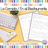 Spanish Food and Restaurant Listening Activities