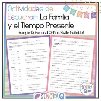 Actividades de Escuchar: La Familia y el Tiempo Presente