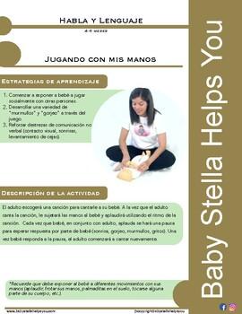 Actividades de Estimulación Habla y Lenguaje (4-6 meses)