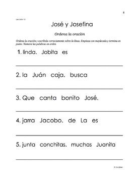 A3 (c) Actividades de la Lectura 4 letras B, J, G, C (suave), G(suave), V.