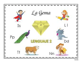 C2 Lenguaje 2  Letras Ss, Pp, Ll, Tt, Dd, Nn
