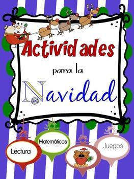 Actividades de Navidad/Christmas Activities in Spanish--No Prep Best FUN PACK!