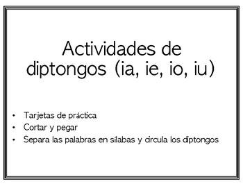 Actividades de diptongos