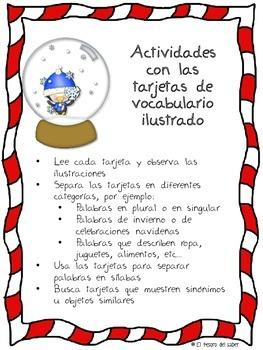 Actividades de Lenguaje - Invierno y Navidad - Spanish for Christmas & Winter