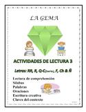 A3 (b) Actividades de la Lectura 3 Letras: RR, R, C, Q, F, CH, Ñ.