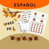 Actividades de otoño para PK-1       Free Spanish PK-1st S
