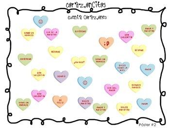 Spanish Valentine's Day Math and Writing - Actividades Día del amor y la amistad