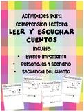 Actividades para el Comprension de lectura// ESPANOL