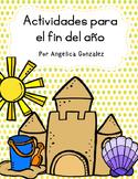 Actividades para el fin del año (End of the year activities SPANISH)
