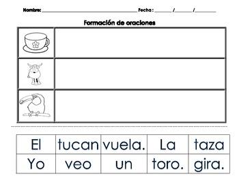Actividades para kindergarten letras T/P