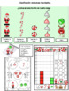 Actividades para la Navidad Gr. 1-3 Escritura y matemáticas Dual Spanish