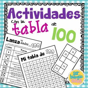 Actividades para la tabla de 100