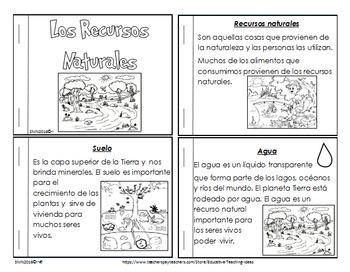 Actividades sobre: Los Recursos Naturales